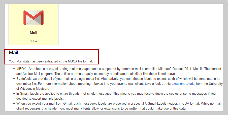 Google Takeout Reader to Read Gmail Mailbox Messages