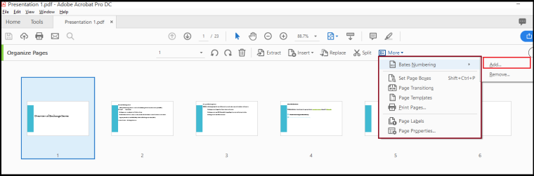 Bates Stamping In Adobe PDF With Or Without Document Cloud